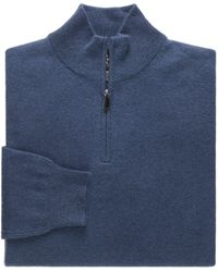 Jos. A. Bank - Traveler Cashmere Quarter-zip Men's Sweater Big And Tall - Lyst