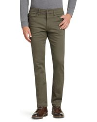 Jos. A. Bank - 1905 Collection Tailored Fit Flat Front Cotton Twill Pants - Lyst