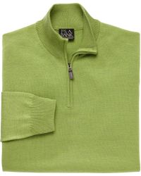 Jos. A. Bank - Classic Collection Cotton Half Zip Sweater - Lyst