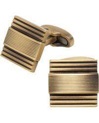 Jos. A. Bank - Matte Textured Stripe Cufflinks Clearance - Lyst