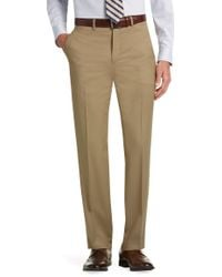 Jos. A. Bank - Executive Collection Tailored Fit Flat Front Dress Pants Clearance - Lyst