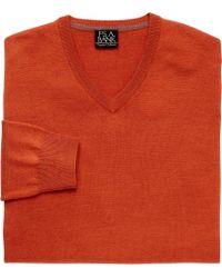 Jos. A. Bank - Traveler Collection Merino V-neck Sweater - Lyst