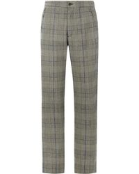 JOSEPH - Edgar Washed Textured Check Trousers - Lyst