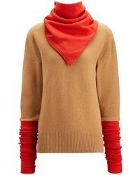 JOSEPH - Scarf Neck Sweater Double Knit - Lyst