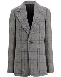 JOSEPH - Annab Textured Check Jacket - Lyst