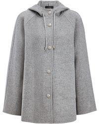 JOSEPH - Double Wool Rowen Short Coat - Lyst