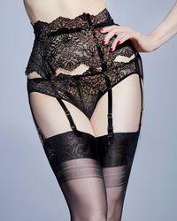 Dita Von Teese - Lurex Lace Suspender - Lyst