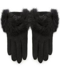 Armani Jeans - Fur Trim Gloves - Lyst