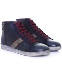 La Martina - Leather High-top Ascot Trainers - Lyst
