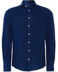 Hackett - Slim Fit Garment Dyed Linen Shirt - Lyst