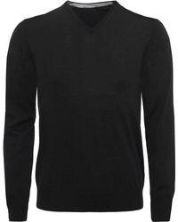 Stenstroms - Extrafine Merino Wool V-neck Jumper - Lyst