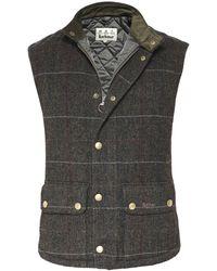 Barbour - Wool Check Lowerdale Gilet - Lyst