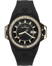 Toy Watch - Toy Strong Swarovski Crystal Watch Ns04Bk - Lyst