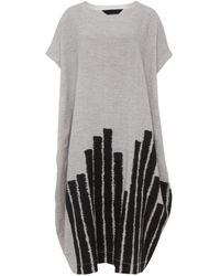 Moyuru - Striped Hem Day Dress - Lyst