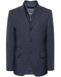 Corneliani - Virgin Wool Padded Blazer Jacket - Lyst