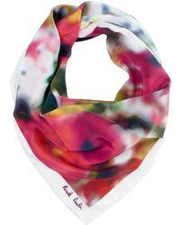 Nicole Farhi - Poppy Print Silk Scarf - Lyst