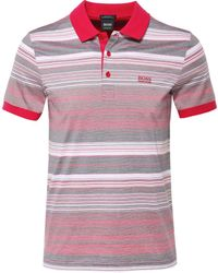 BOSS - Regular Fit Striped Paddy 3 Polo Shirt - Lyst