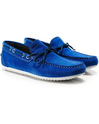 Geox - Suede Shark Boat Shoes - Lyst