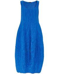Grizas - Silk Crinkle Effect Midi Dress - Lyst