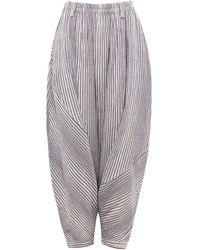 Moyuru - Cotton Harem Trousers - Lyst