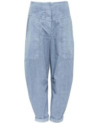 Oska - Linen Bahar Trousers - Lyst