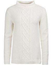 Barbour - Leith Roll Collar Knitted Jumper - Lyst