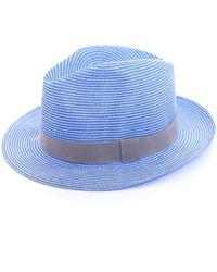 Travaux En Cours - Straw Trilby Hat - Lyst