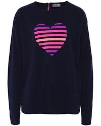 Cocoa Cashmere - Cashmere Stripe Heart Jumper - Lyst