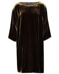 Eileen Fisher - Velvet Boat Neck Mini Dress - Lyst
