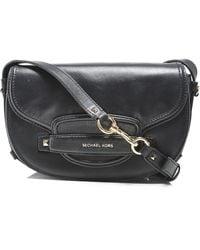 MICHAEL Michael Kors - Cary Medium Leather Saddle Bag - Lyst