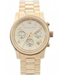 MICHAEL Michael Kors - Polished Gold Tone Michael Kors Watch Mk5055 - Lyst