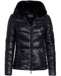 Barbour - Losail Fur Trim Quilted Jacket - Lyst