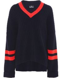 PS by Paul Smith - V Neck Ribbed Jumper - Lyst