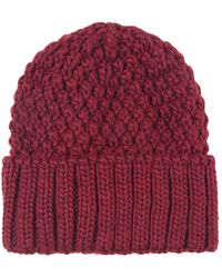 Jules B - Block Cable Knit Hat - Lyst
