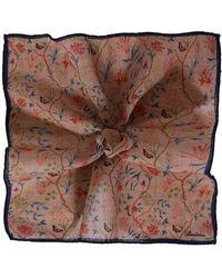 Stenstroms - Floral Wool Pocket Square - Lyst