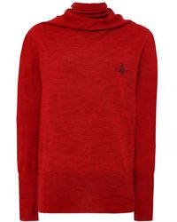 Vivienne Westwood Anglomania - Wool Knit Logo Jumper - Lyst