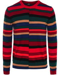 PS by Paul Smith - Wool Crew Neck Stripe Jumper - Lyst