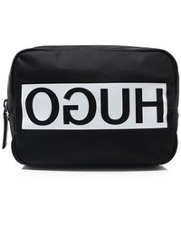 HUGO - Reverse Logo Wash Bag - Lyst