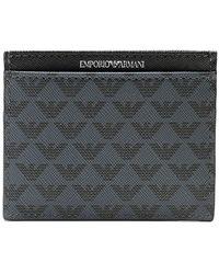 Armani Tumbled Leather Logo Card Holder