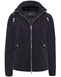 Emporio Armani | Flared Hem Windbreaker Jacket | Lyst