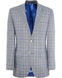 Jules B - Slim Fit Wool Prince Of Wales Check Jacket - Lyst