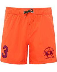 La Martina - Numbered Swim Shorts - Lyst