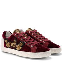Ash - Nak Army Embroidered Velvet Low-top Sneakers - Lyst