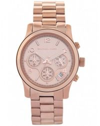 MICHAEL Michael Kors - Rose Gold Chronograph Michael Kors Watch Mk5128 - Lyst