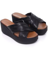 Inuovo - Leather Wedge Sandals - Lyst