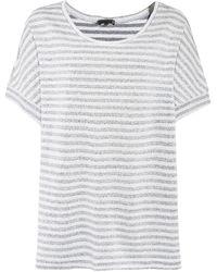 Oska - Linen Striped Baza Top - Lyst