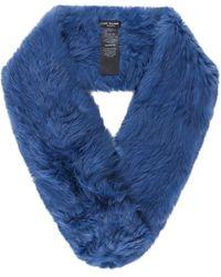 Yves Salomon - Knitted Fur Loop Scarf - Lyst