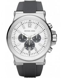 MICHAEL Michael Kors - Chronograph Rubber Strap Michael Kors Watch Mk8183 - Lyst