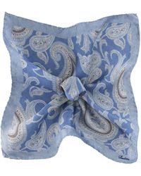Stenstroms - Silk Paisley Pocket Square - Lyst
