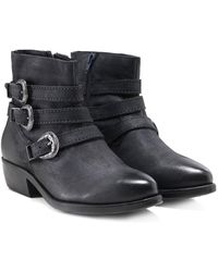 Inuovo - Leather Paraselene Buckle Strap Boots - Lyst